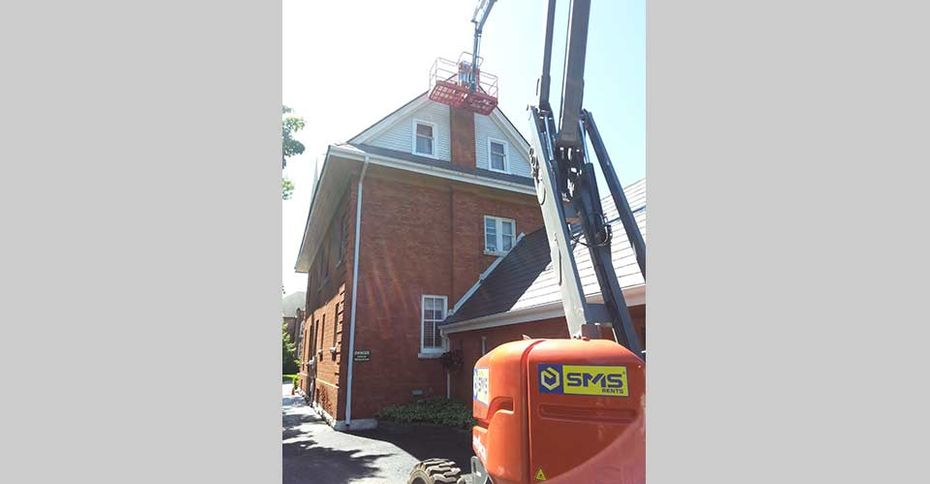 Chimney repair at Orillia
